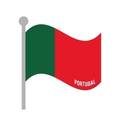 portugal patriotic flag isolated icon vector image