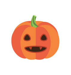 pumpkin with triangular eyes and sharp canines vector image