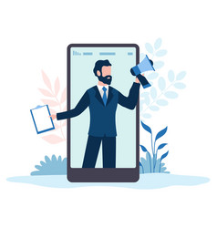 refer a friends referral marketing program man vector image