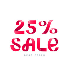 sale 25 percent off vector image