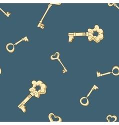 Seamless keys pattern vector image vector image