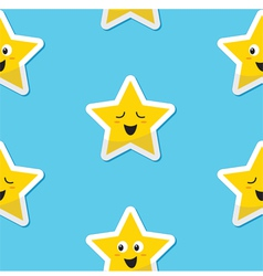 SeaSeamless happy stars background for kids vector image