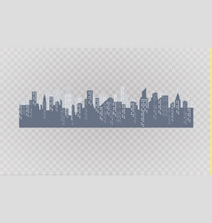 silhouette city in a flat style modern vector image