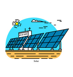 solar power plant conversion concentrated vector image