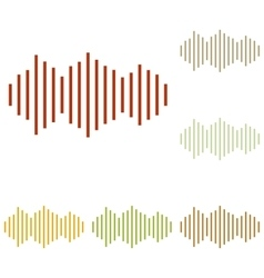 Sound waves icon vector image