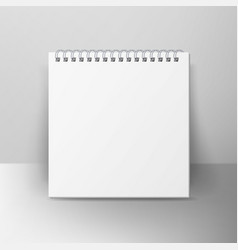 Spiral empty notepad blank mockup template for vector