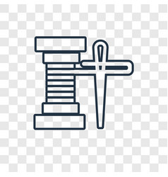 spool of thread concept linear icon isolated on vector image