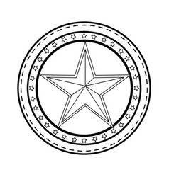 star medal shape vector image