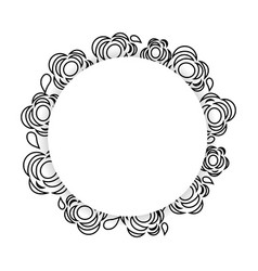 Symbol flowers decoration art vector