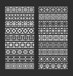 traditional ornamental elements for brushes vector image