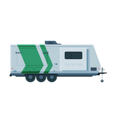 travel trailer mobile home for summer trip vector image