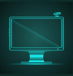 turquoise neon computer vector image