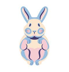 Ute flat bunny stock vector