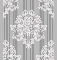 vintage ornament pattern baroque classic vector image