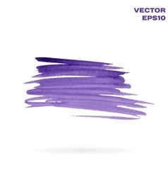 Violet watercolor hand painted shape design vector image