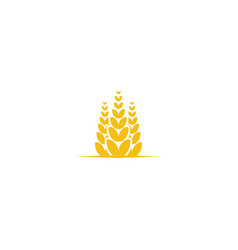 wheat grain agriculture logo design inspiration vector image
