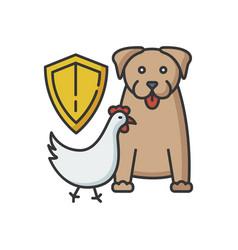wildlife protection rgb color icon vector image
