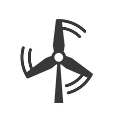 windmill energy icon clean energy concept vector image