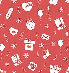 Winter holidays pattern 3 vector image