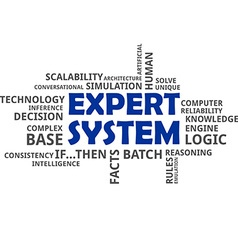 word cloud expert system vector image