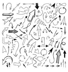 Big set arrows set hand drawn vector
