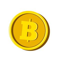 bitcoin virtual money currency vector image