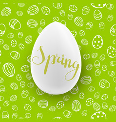 easter seamless pattern with white egg vector image