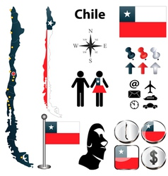 Map of Chile vector image