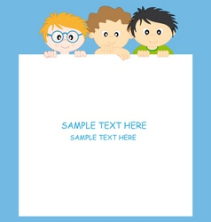 boys and frame vector image vector image