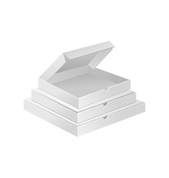 Empty white small boxes realistic vector image
