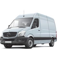 European delivery van vector image