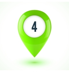 Green realistic 3D glossy map point symbol vector image vector image