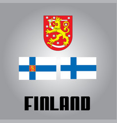 official government elements of finland vector image