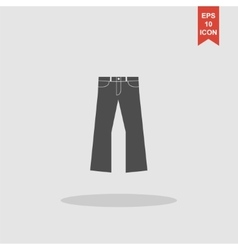 Pants icon Flat design style vector image