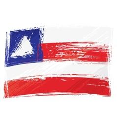 Grunge Bahia flag vector image vector image