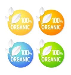 Organic plant labels set vector image