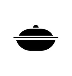 pot icon black sign on vector image