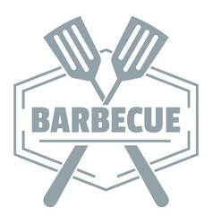 barbecue logo simple gray style vector image vector image