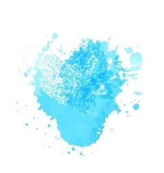 Bright blue watercolor vector image