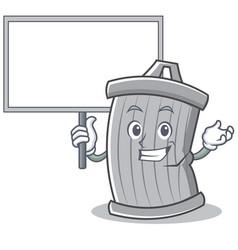 bring board trash character cartoon style vector image vector image