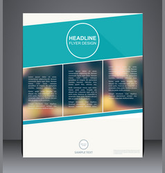 business brochure flyer design in a4 size vector image vector image