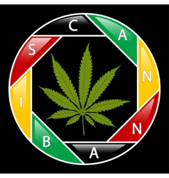 Cannabis icon-background vector image vector image