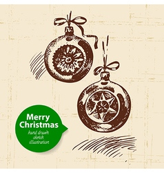 Hand drawn Christmas background vector image vector image