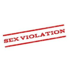 Sex violation watermark stamp vector