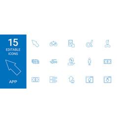 15 app icons vector