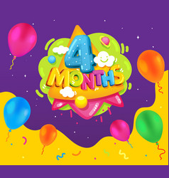 4 month baby vector image