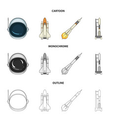 A spaceship in space a cargo shuttle a launch vector