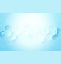 Abstract geometric hexagons shape science concept vector