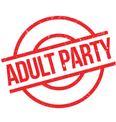 Adult Party rubber stamp vector image