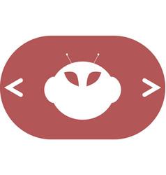 Alien icon vector
